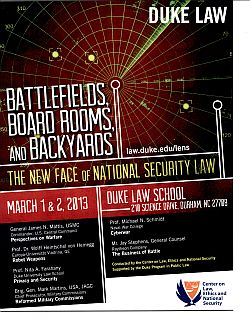 2013 | Battlefields, Boardrooms, and Backyards: The New Face of National Security Law