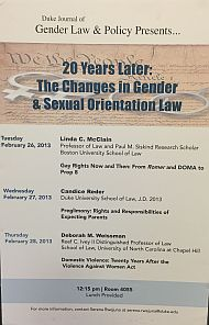 2013 | 20 Years Later: The Changes in Gender & Sexual Orientation Law