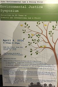 2014 | Environmental Justice Symposium: Reflecting on 20 Years of Domestic and International Law & Policy