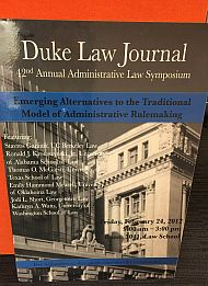 2012 | Emerging Alternatives to the Traditional Model of Administrative Rulemaking