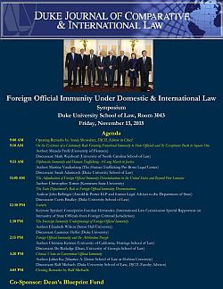 2015 | Foreign Official Immunity Under Domestic and International Law